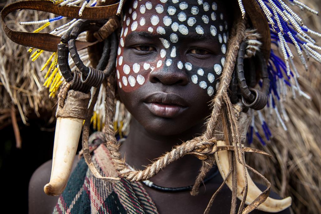Mursi Tribe boy